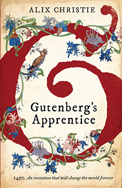 U.K. book cover for Gutenberg's Apprentice