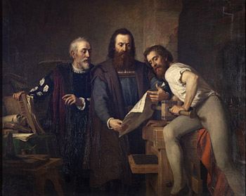 three men reading